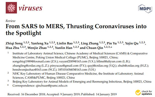 From SARS to MERS, Thrusting Coronaviruses into the Spotlight.