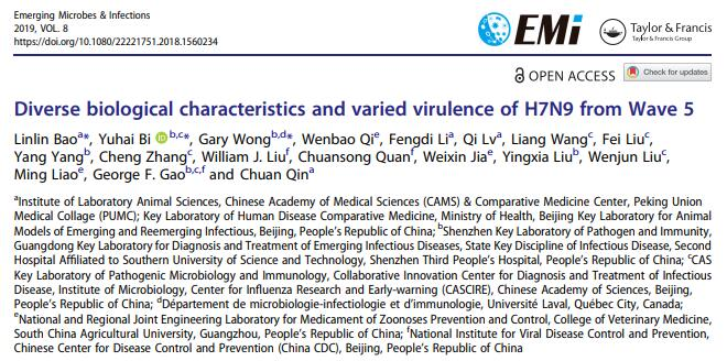 Diverse biological characteristics and varied virulence of H7N9 from Wave