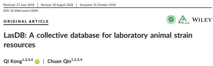 LasDB: A collective database for laboratory animal strain resources.